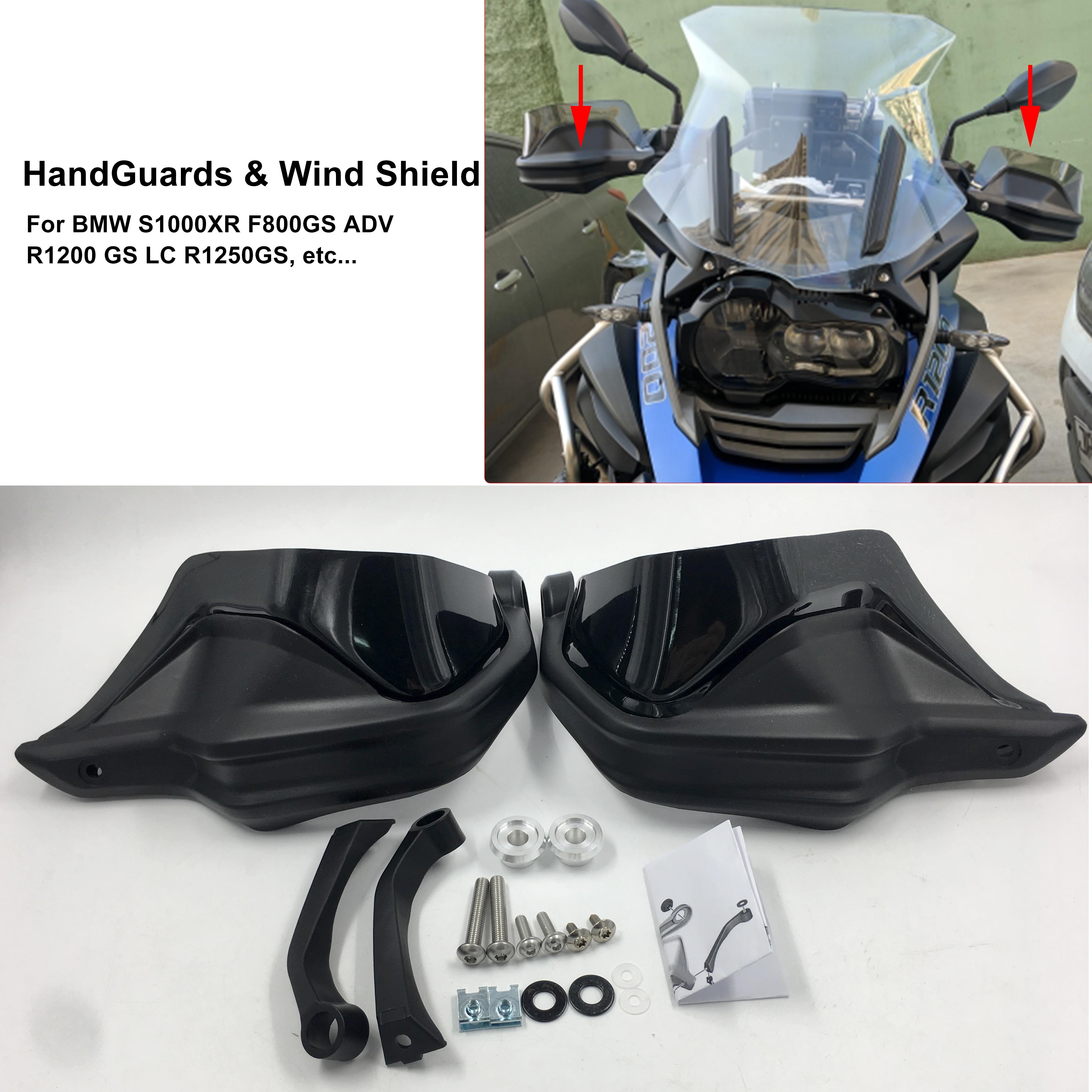 Full Set HandGuard Shield Hand Guards Windshield For BMW R 1200 GS ADV R1200GS LC F800GS Adventure S1000XR R1250GS F750GS F850GS
