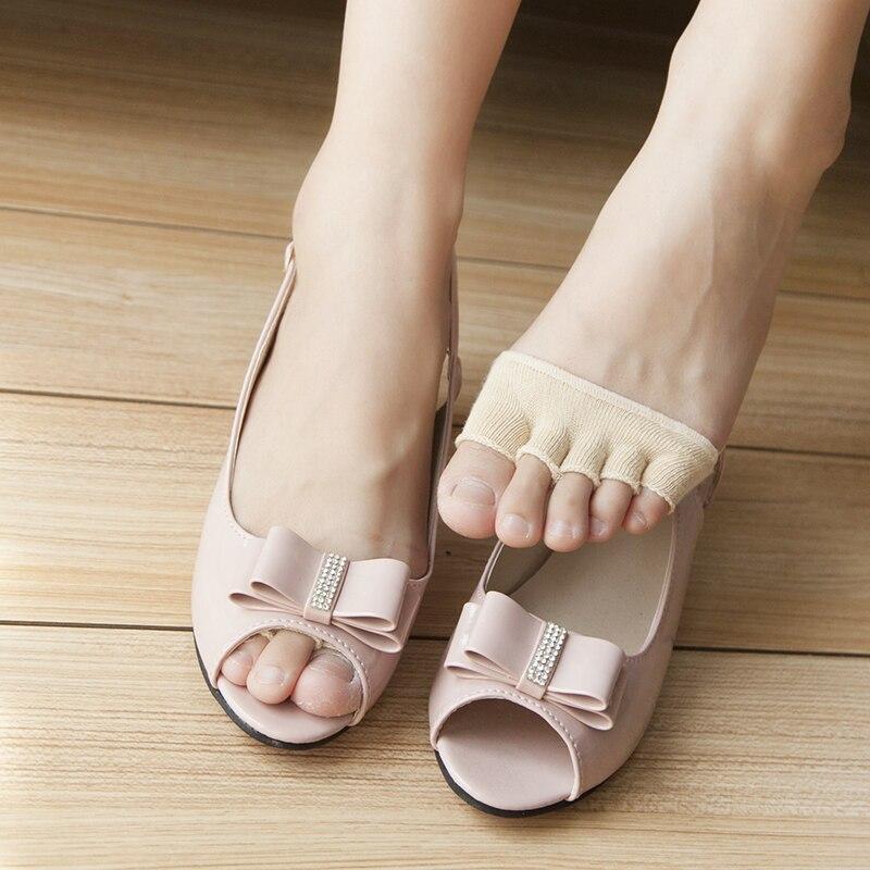 1 par de plantillas medias de plantillas de alivio del dolor en antepié masaje gel para metatarso del pie almohadillas de soporte plantilla para cuidado del pie