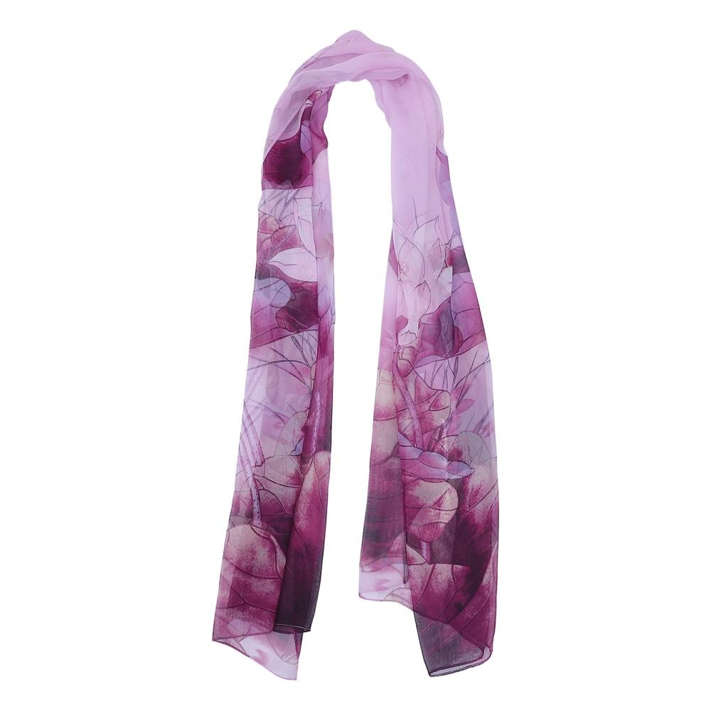 1Pc Beautiful Cozy Scarf Fashion Thin Scarf Lotus Pattern Scarf for
