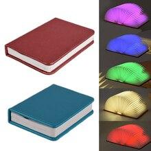 LED Folding Lamp Turning Book Shape night light USB Rechargeable LED Folding Lamp Nightlight creative book light home decor