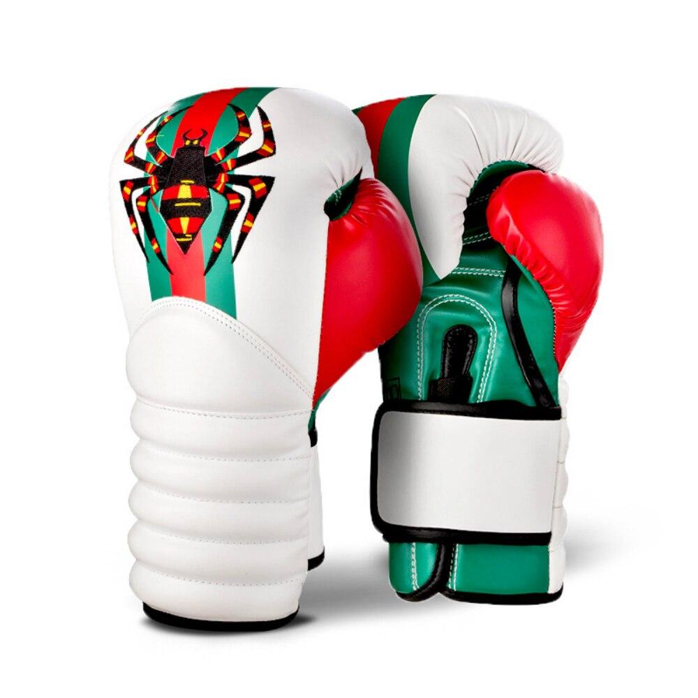 white 10oz boxing gloves mma kick boxing training muay thai men fitness gloves for adult kids free shipping MMA Tarantula Boxing Training Gloves Adult Game Gloves Sanda Muay Thai Boxing Gloves Men