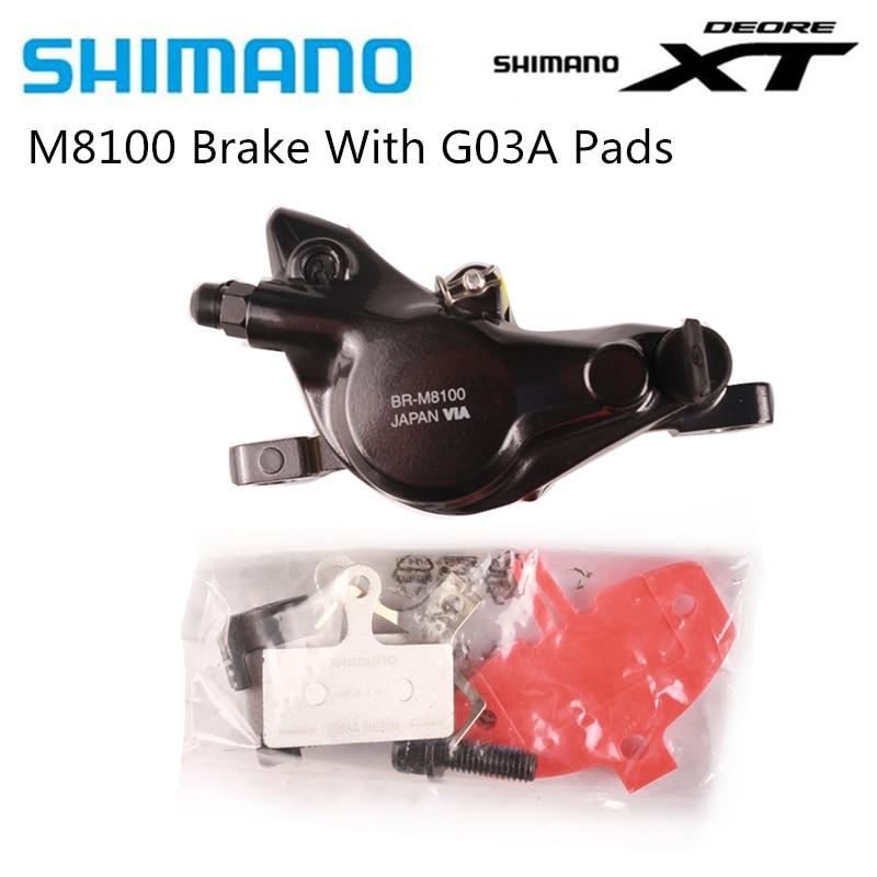 SHIMANO DEORE XT M8100 M8120 de freno de bicicleta de montaña de freno de disco hidráulico MTB M8100 M8120 con almohadillas con la caja Original