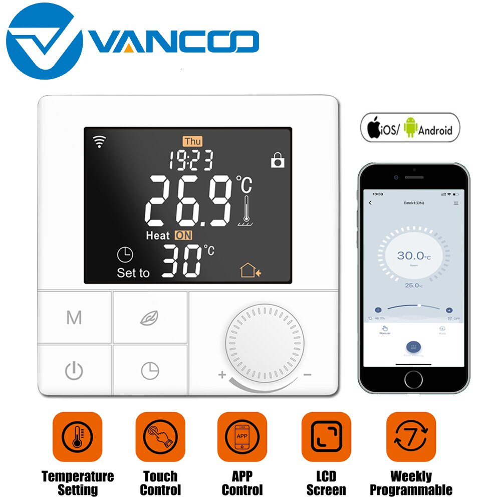 Smart Home Control Thermostat 220v Water/Electric floor Heating/Gas Boiler for Temperature Controller Wifi Thermoregulator smart wifi tuya thermostat temperature controller gas boiler water heating electric heating thermoregulator floor controller