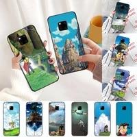 castle in the sky japan anime phone case for huawei honor mate p 10 20 30 40 i 9 8 pro x lite smart 2019 nova 5t
