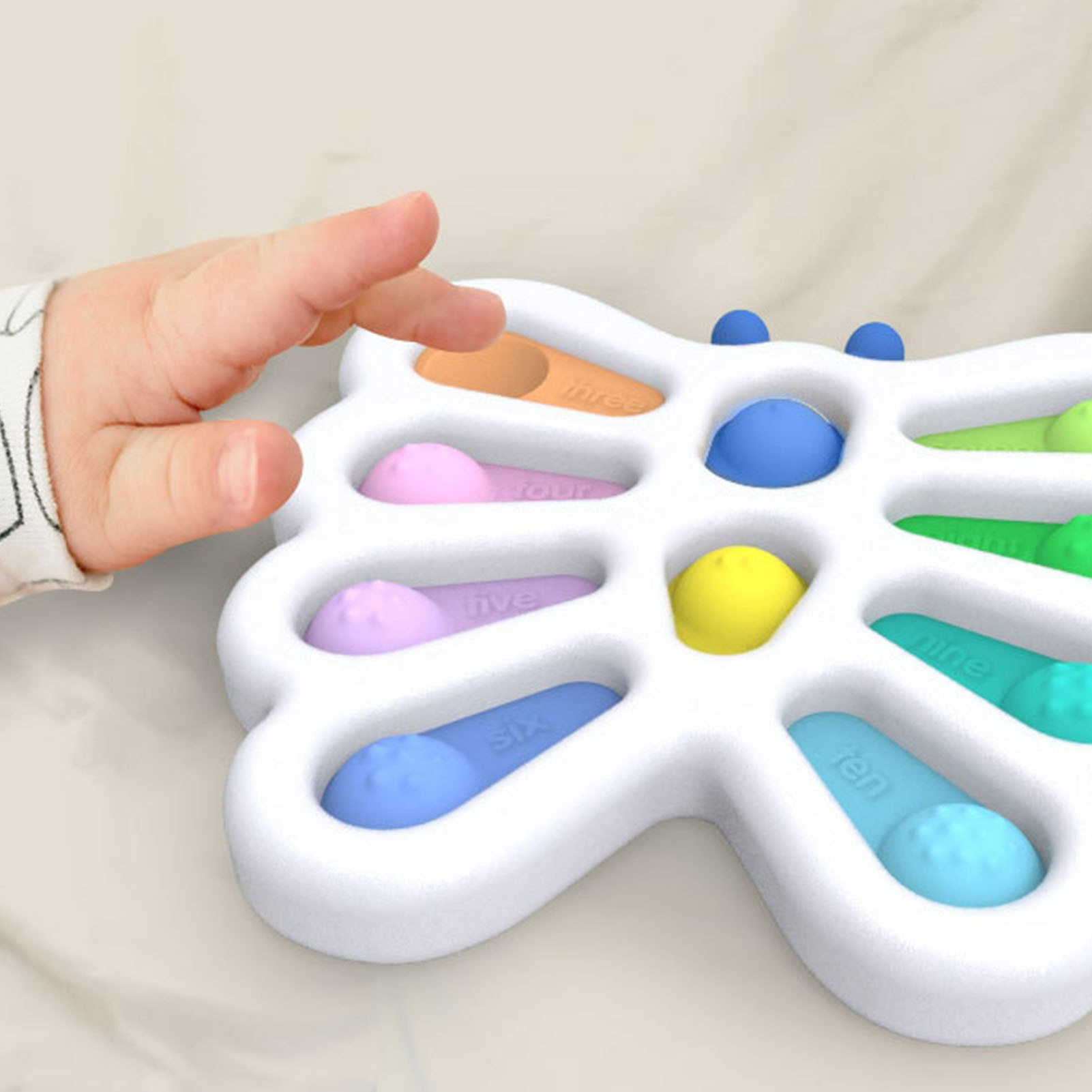 Baby Simple Fidget Dimple Toy Butterfly Plastic Silicone Stress Relief Desktop Early Educational Toys For Children Adults enlarge