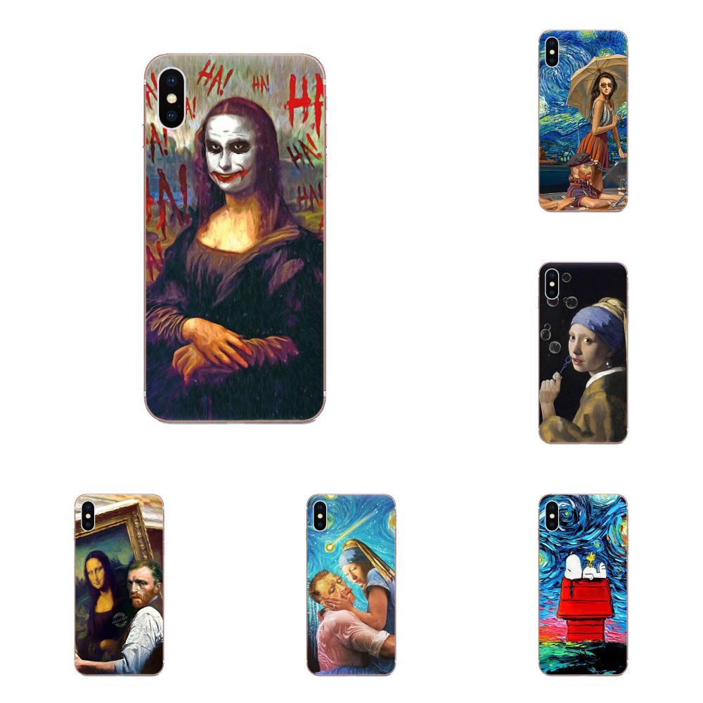 Melhor Mona Lisa Van Gogh Moda Para Motorola G G2 G3 G4 G5 G6 G7 Plus Para Xiaomi Redmi Nota 8 8A 8T 10 K30 5G Pró