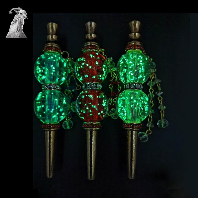 Sy 1pc moda portátil de metal luminoso artesanal incrustada jóias shisha boca hookah filtro bocal
