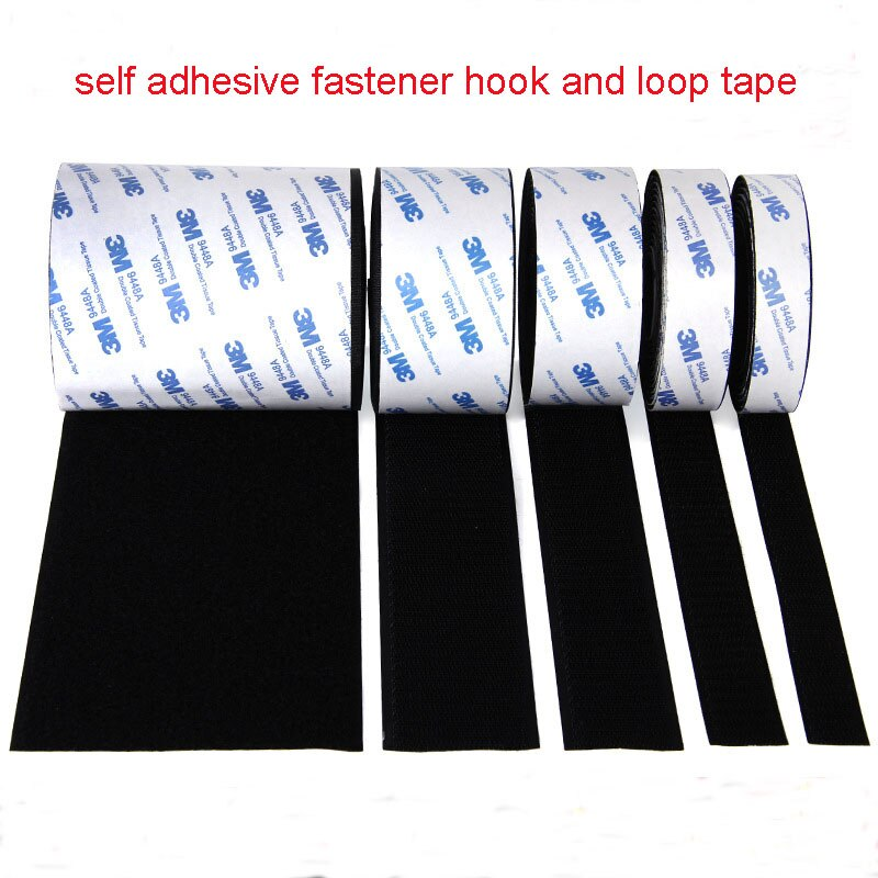 Strong Self Adhesive Hook and Loop Fastener Tape Nylon Sticker Velcros Adhesive with Glue for DIY 20/25/30/38/50mm 1Meter/Pairs