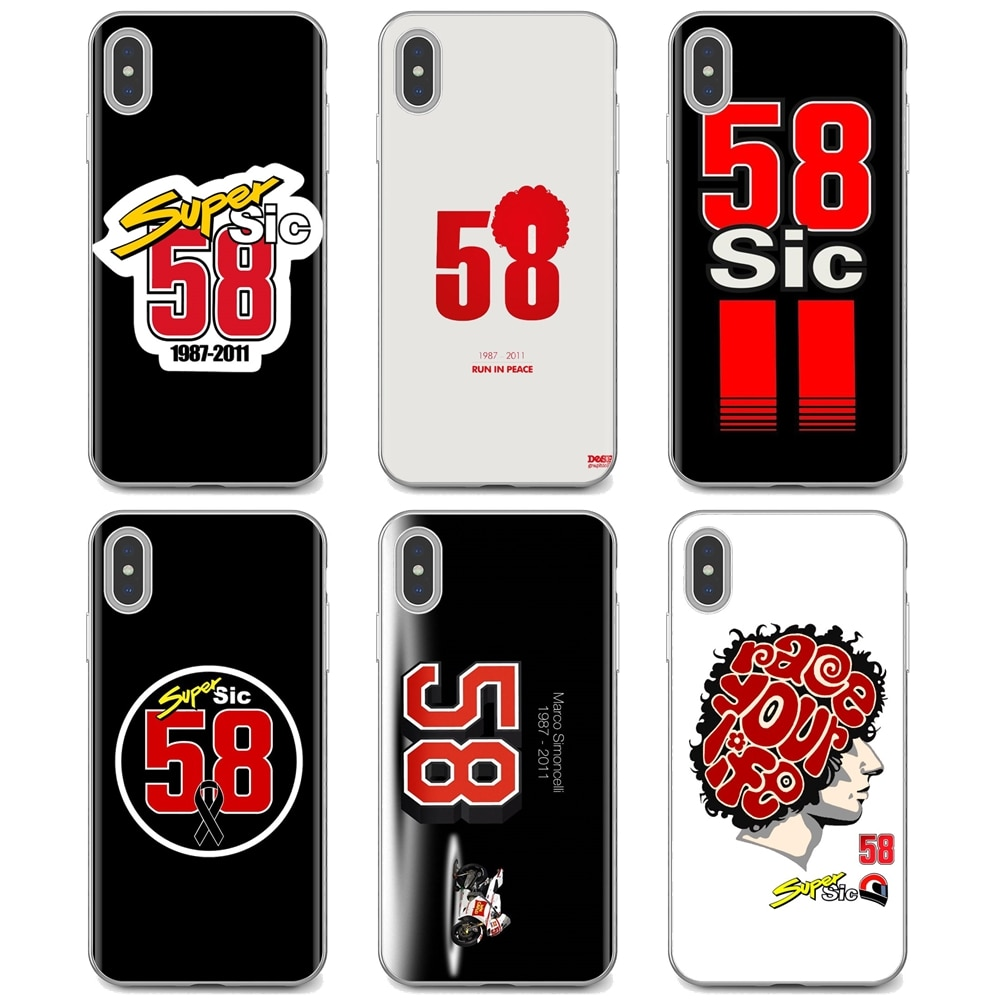 For Huawei Y6 Y5 2019 For Xiaomi Redmi Note 4 5 6 7 8 Pro Mi A1 A2 A3 6X 5X 7A marco simoncelli 58 l