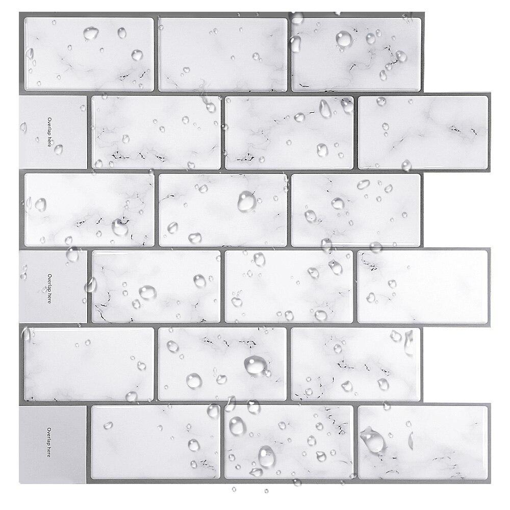 Adhesivo de pared 3D, mosaico, azulejos autoadhesivos, DIY, protector de salpicaduras, cocina, baño, cáscara y Palo de vinilo