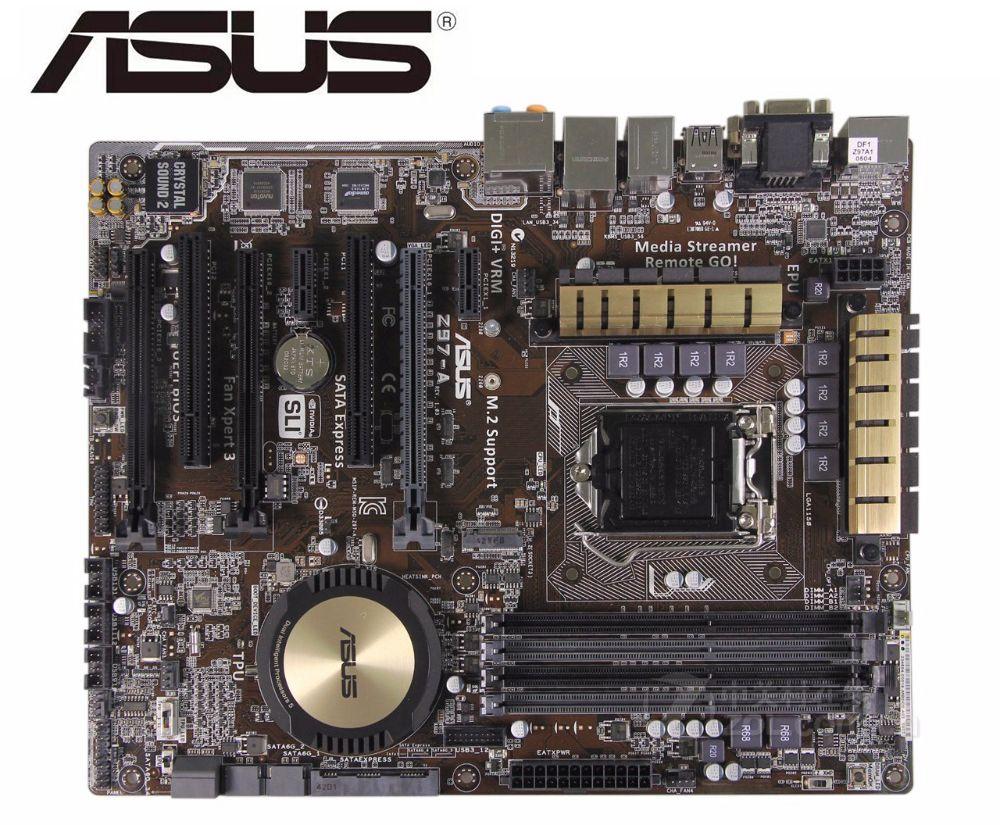 ASUS Z97-A оригинальная материнская плата LGA 1150 DDR3 USB2.0 USB3.0 для I3 I5 I7 CPU 32 Гб Z97, используемая настольная материнская плата