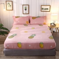 adorehouse crystal velvet fitted sheet queen winter warm fleece sheets king size bed cover soft bedsheet mattress protector