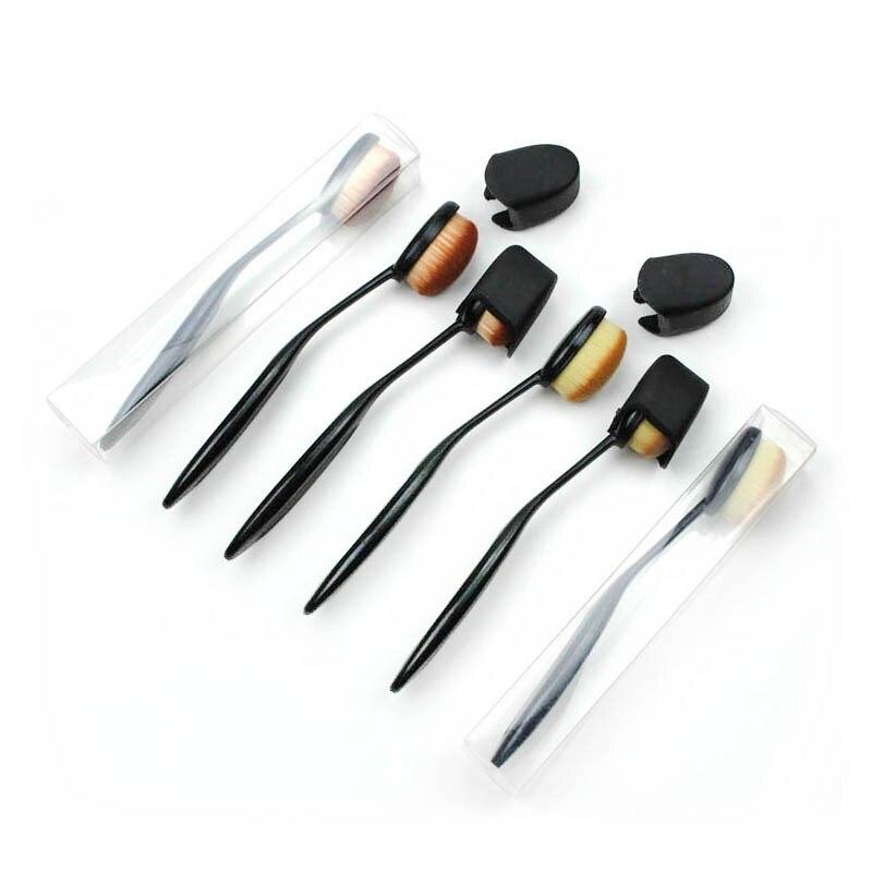 Lokay craft pincéis de mistura de tinta 5 pacote conjunto ampla aplicação variedade alças mistura escova de maquiagem cosmética