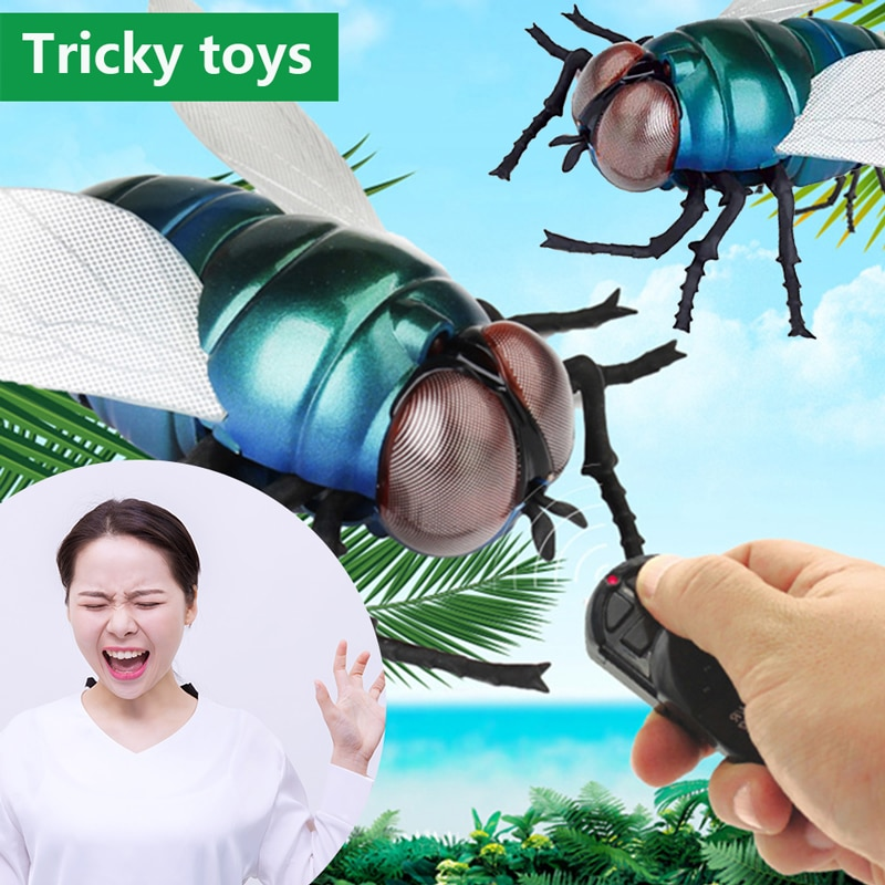 Infrared RC animal Insect Toys Simulation Housefly Wireless Remote Control Electric robot Toy Halloween Prank Insects kids toys enlarge