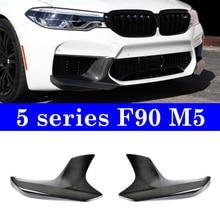 1 para węgla przedni Splitter Bumer dla BMW serii 5 G30 F90 M5 2018-up 530i 540i