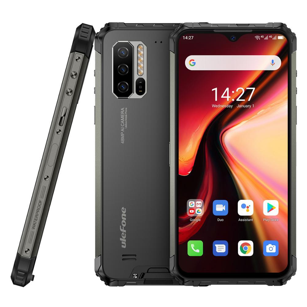Перейти на Алиэкспресс и купить 4G LTE прочный мобильный телефон Ulefone Armor 7 Android 10 смартфон Helio P90 8 ГБ + 128 ГБ 2,4G/5G WiFi IP68 48MP глобальная версия