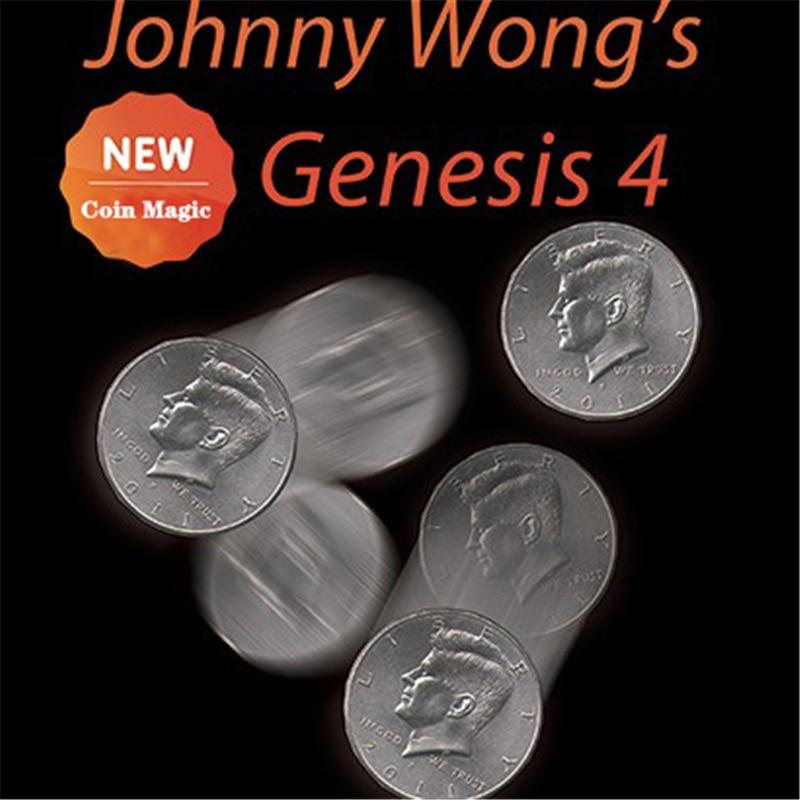 Johnny WongS Genesis 4 (With DVD) By Johnny Wong ( US Half Dollar Set ) Magic Tricks  Illusions Close Up Magic Props