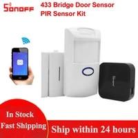 Sonoff     detecteur de mouvement douverture de porte fenetre  capteur Pir2 et pont RF 433  domotique  fonctionne avec Alexa et Google Home