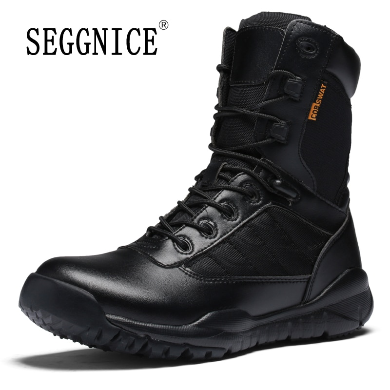 Outdoor Tactical Boots Men Winter Outdoor Hiking Desert Boots Thick High Top Hunting Military Boots Sneakres Male Plus Size