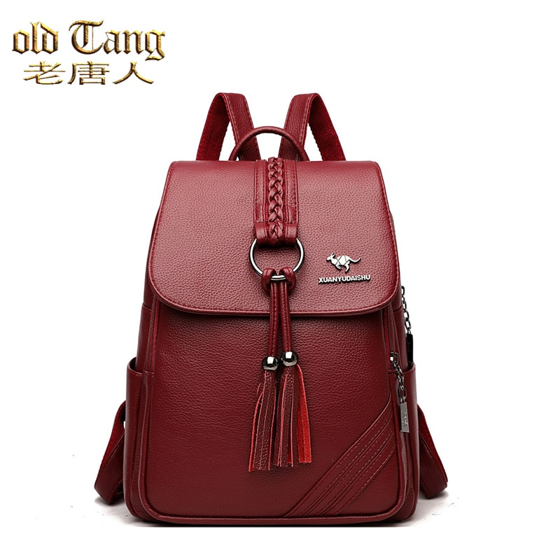 Luxury Designer Women Travel Backpack High Quality Soft PU Leather Women Backpacks for Women 2021 Fa