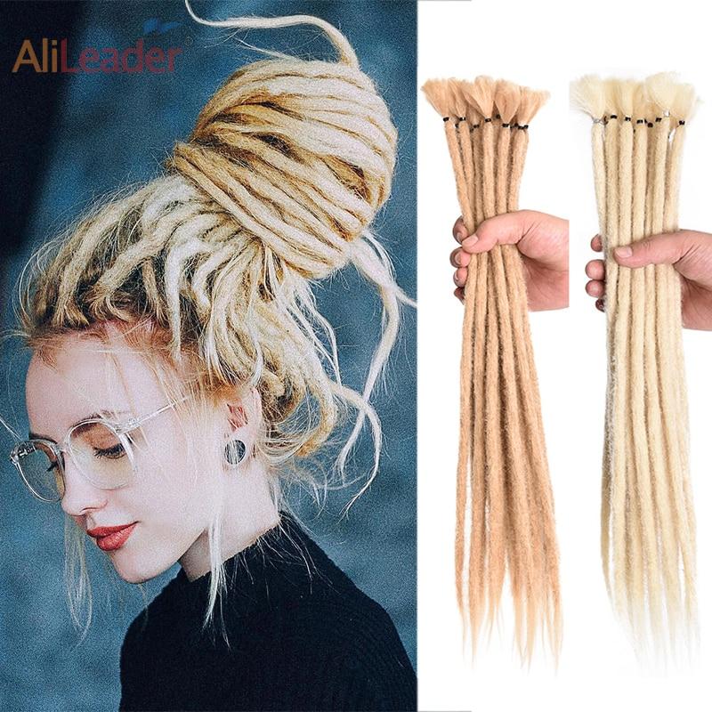 Alileader 17 Kleur 5/10 Strands Dreadlocks Haarverlenging Voor Vrouwen Handgemaakte Dreads Synthetische Vlechten Haar Gehaakte Vlechten Stijlen