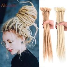 Alileader-Extensión de cabello sintético para mujer, trenzas de ganchillo hechas a mano, de 17 colores, 5/10 hebras, Dreadlocks