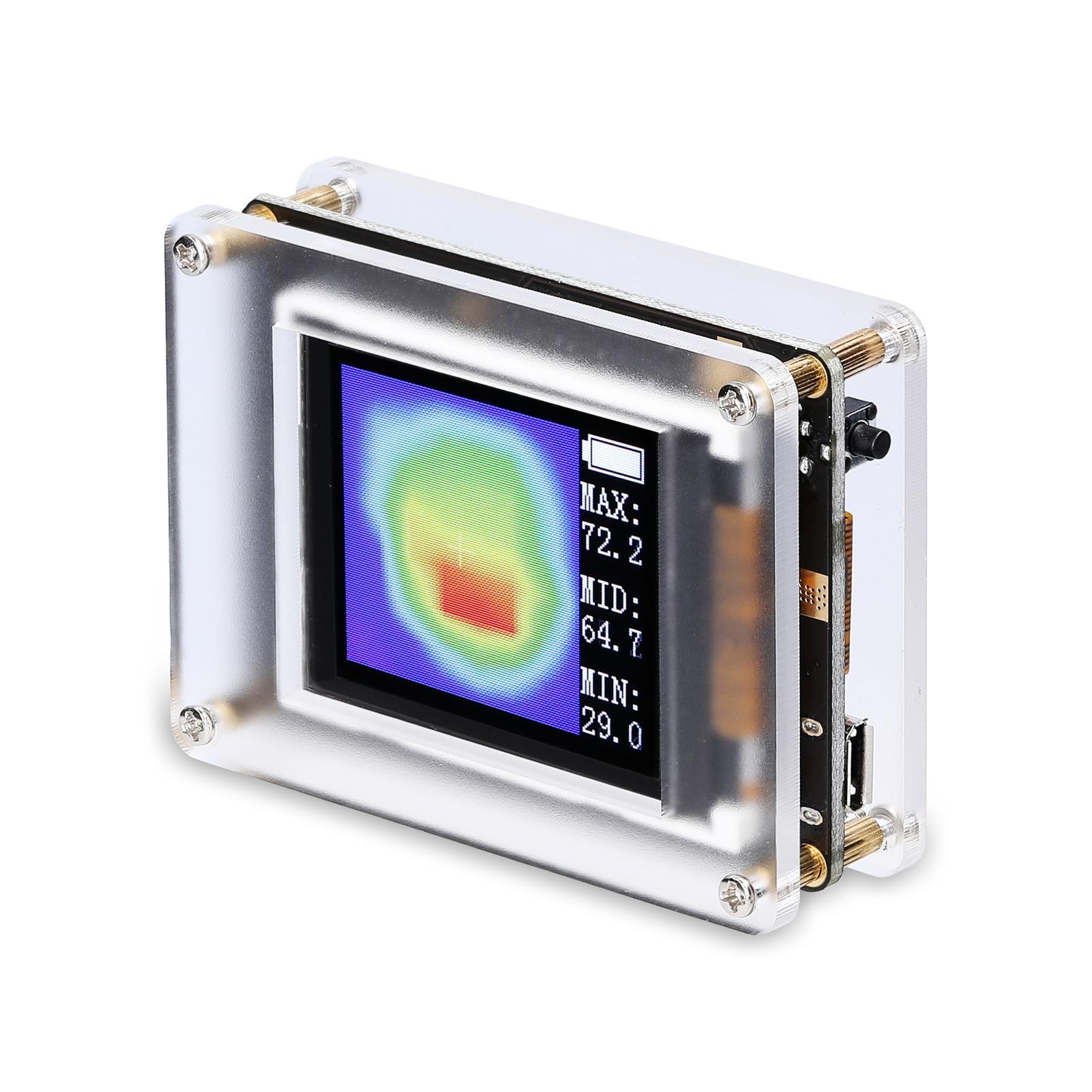 AMG8833_CP 1.8 بوصة TFT عرض بسيط جهاز محمول بالأشعة تحت الحمراء الحرارية تصوير مجسات حرارة الحد الأدنى لدرجة الحرارة العرض