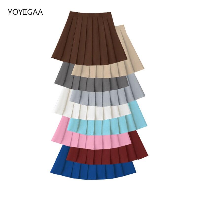 Summer Women Skirts Harajuku Preppy Style Female Pleated Skirt High Waist Woman Mini Skirt Black White Pink Ladies Short Skirts