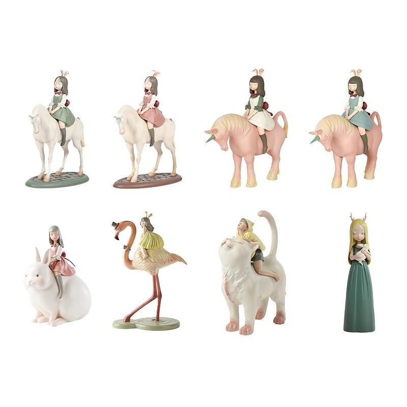 White night fairy tale night travel unicorn decoration princess style creative horse artwork female birthday gift desktop decora