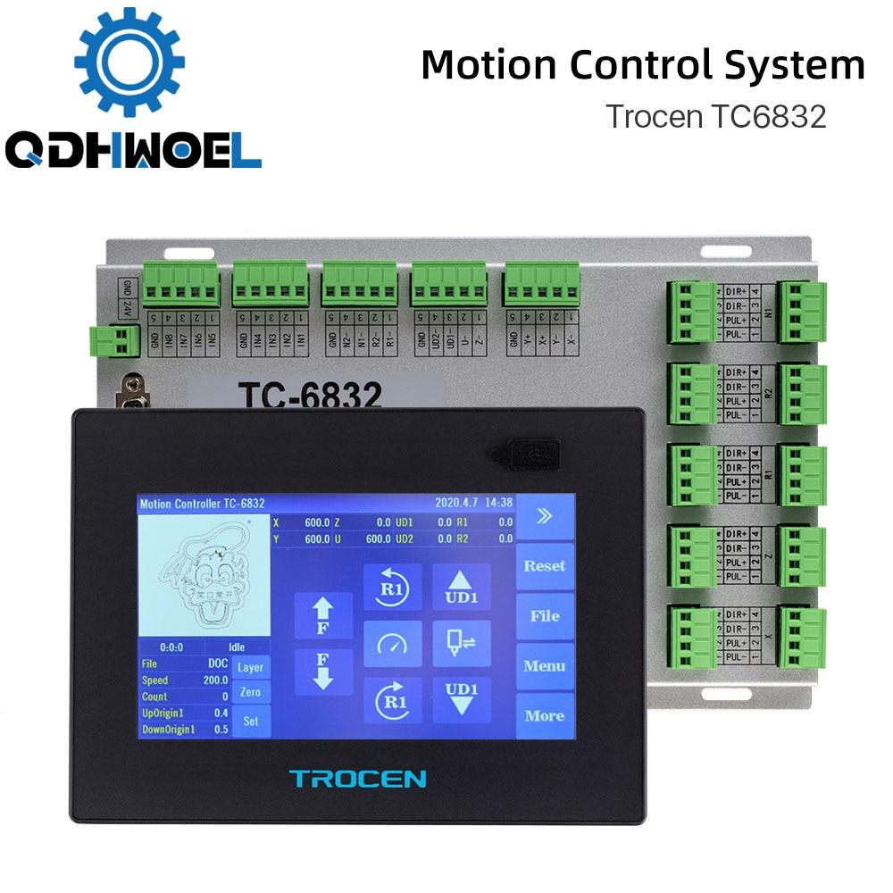 Trocen TC6832 الاهتزاز سكين نظام التحكم Co2 ليزر تحكم لآلة الحفر عالية السرعة DSP 10 محور