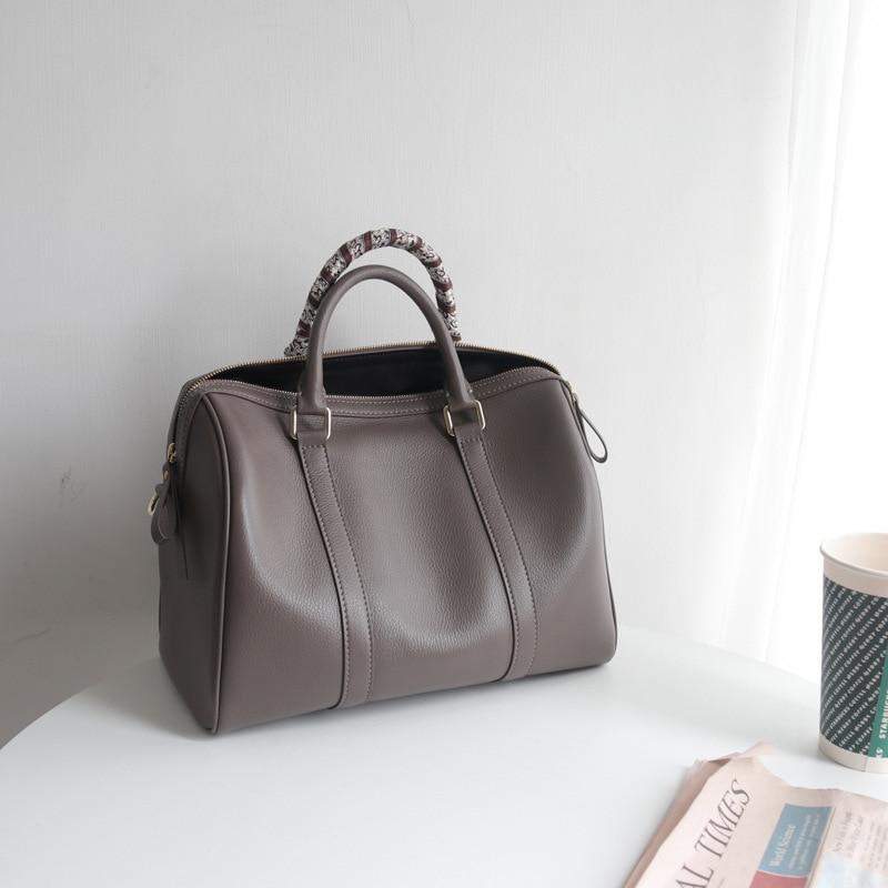SIKUWomen-حقيبة كتف من الجلد الطبيعي للنساء ، حقيبة يد تحمل علامة تجارية