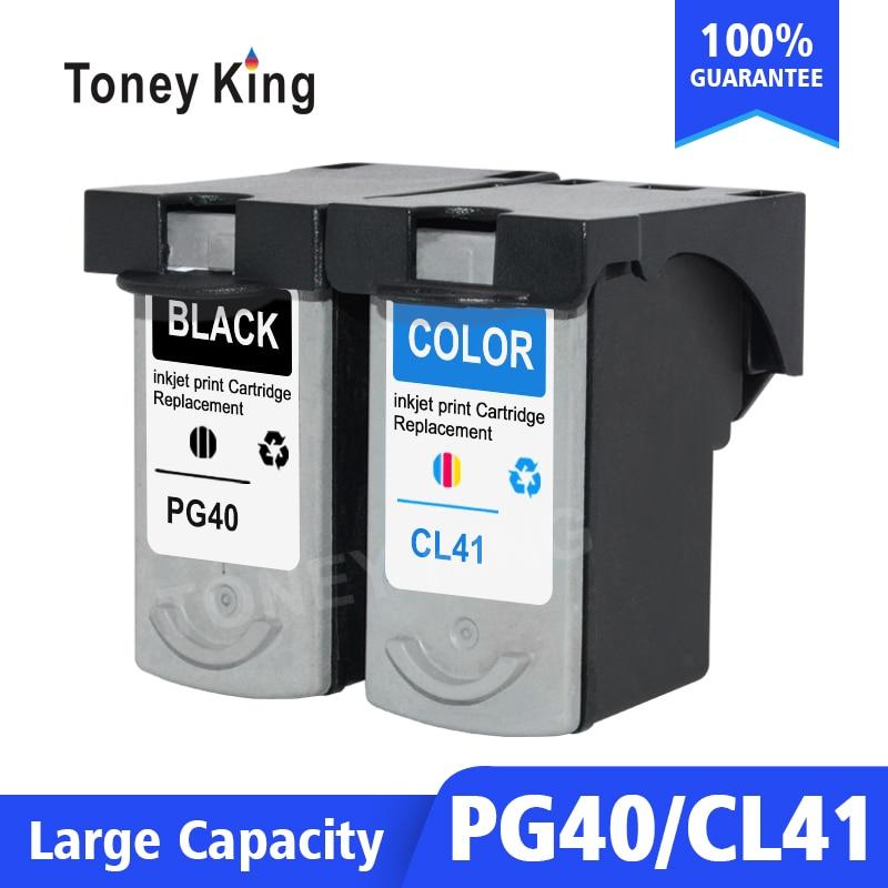 توني الملك PG40 CL41 إعادة تصنيعها خرطوشة حبر PG 40 41 متوافق ل iP1600 iP1200 iP1900 MP140 MP150 MX300 MX310 MP160