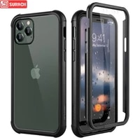 luxury hard case for iphone 11 pro max case with screen protector silicone 360 protection for iphone 11 xs max case cover capa