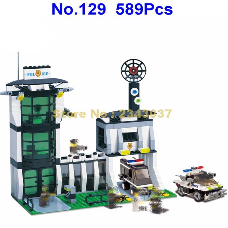 129 589pcs city riot police station enlighten building blocks Toy