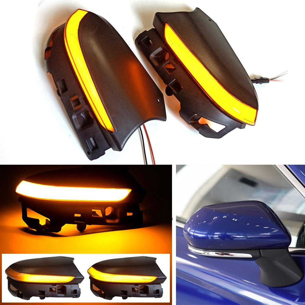 2X Dynamic LED Turn Signal Light For Toyota Camry XV70 C-HR CHR Prius XW50 PHV 2016-2020 Rearview Mirror Indicator Lamp Blinker