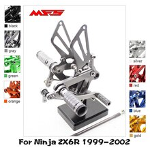 MFS 오토바이 리셋 CNC 조정 가능한 발 페그 액세서리 가와사키 닌자 ZX6R 1999 2000 2001 2002 Footrests ZX-6R Footpegs