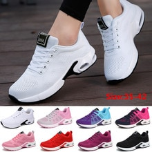 Fashion Women Lightweight Sneakers Outdoor Sports Breathable Mesh Comfort Running Shoes Air Cushion