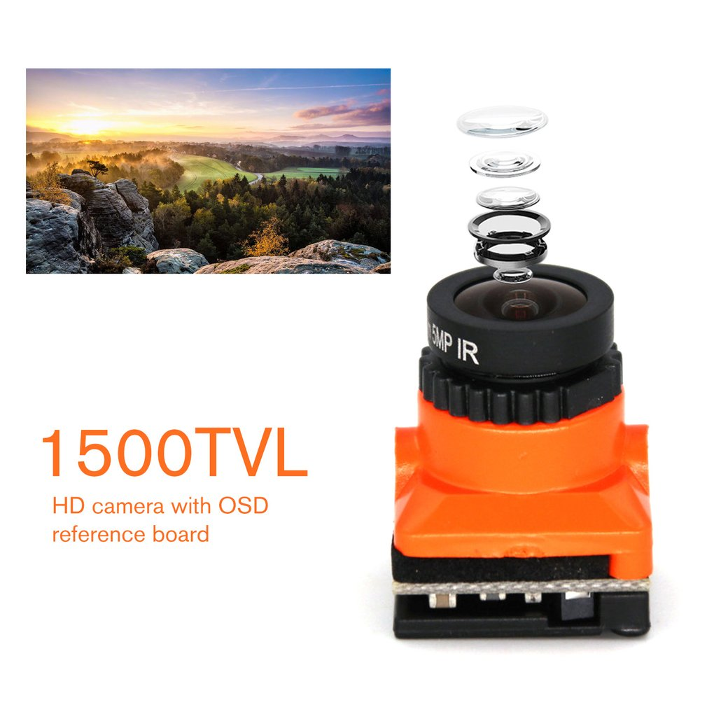 OCDAY HD 1500TVL Upgrade Mini FPV HD Camera 2.1mm Lens PAL / NTSC Low Latency With OSD for RC FPV Racing Drone Part enlarge