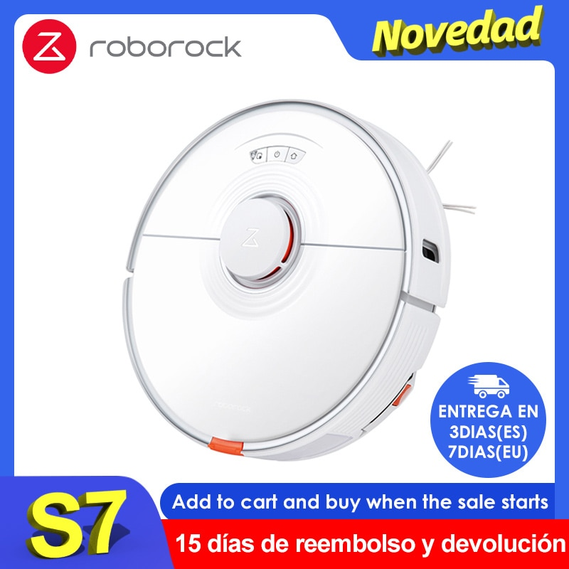 2021 Newest Roborock S7 Robot Vacuum Cleaner Sonic Mopping WiFi App Control Auto Sweep Dust Sterilize