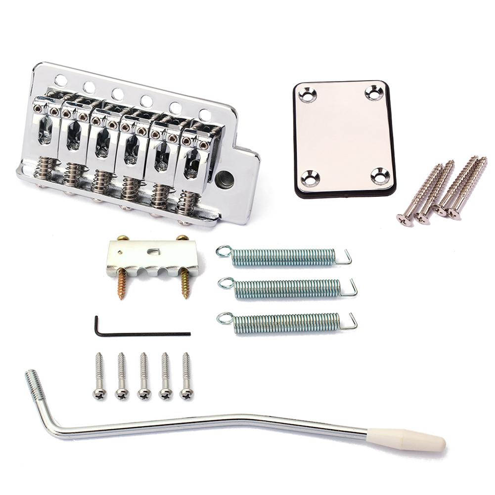 Replacement Electric Guitar Tremolo Bridge Neck Plate Kit for Stratocaster Strat