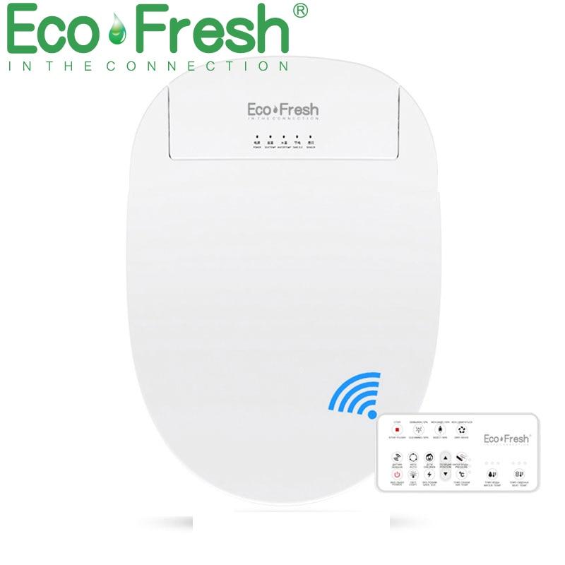 EcoFresh مقعد مرحاض ذكي بيديه كهربي غطاء ذكي بيديت الحرارة نظيفة الجافة تدليك الرعاية للطفل امرأة القديمة