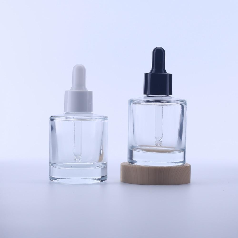 Botella de vidrio transparente con gotero de 30Ml, botella de cristal transparente,...