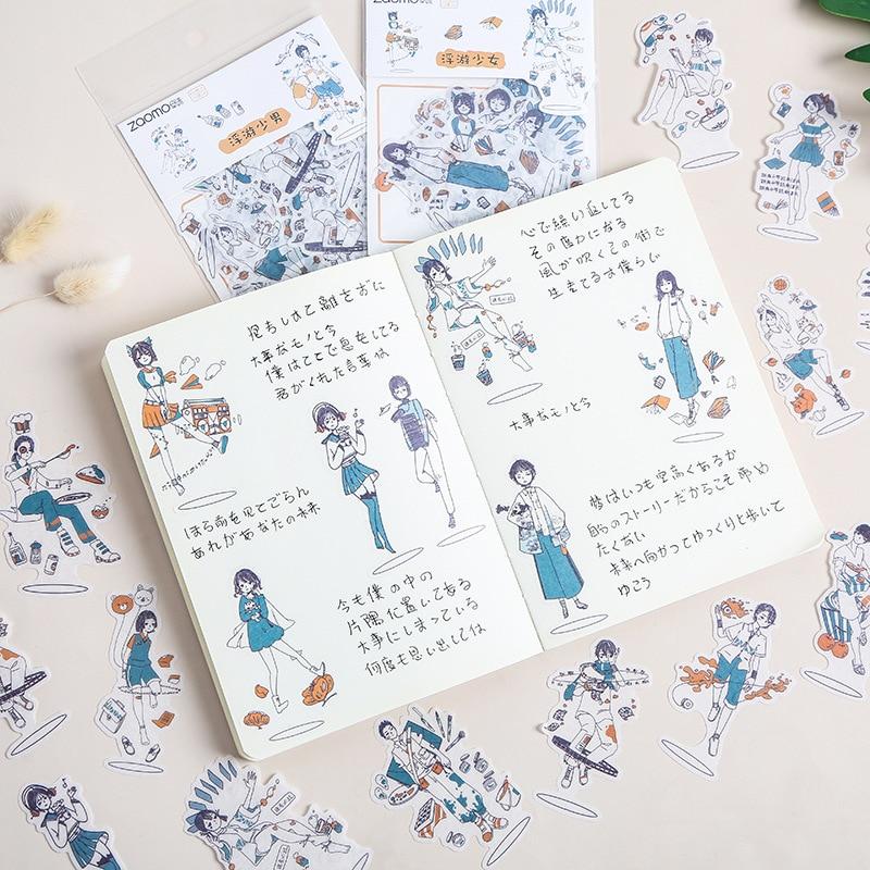 40-unids-bolsa-de-papel-washi-paquete-de-pegatinas-bonitas-articulos-de-papeleria-para-estudiantes-manual-de-texto-material-de-decoracion-suministros-escolares-de-dibujos-animados