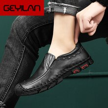 Men Leather Casual Shoes outdoor Men Loafers Genuine Leather Moccasins Men Loafers Leather Casual Bo