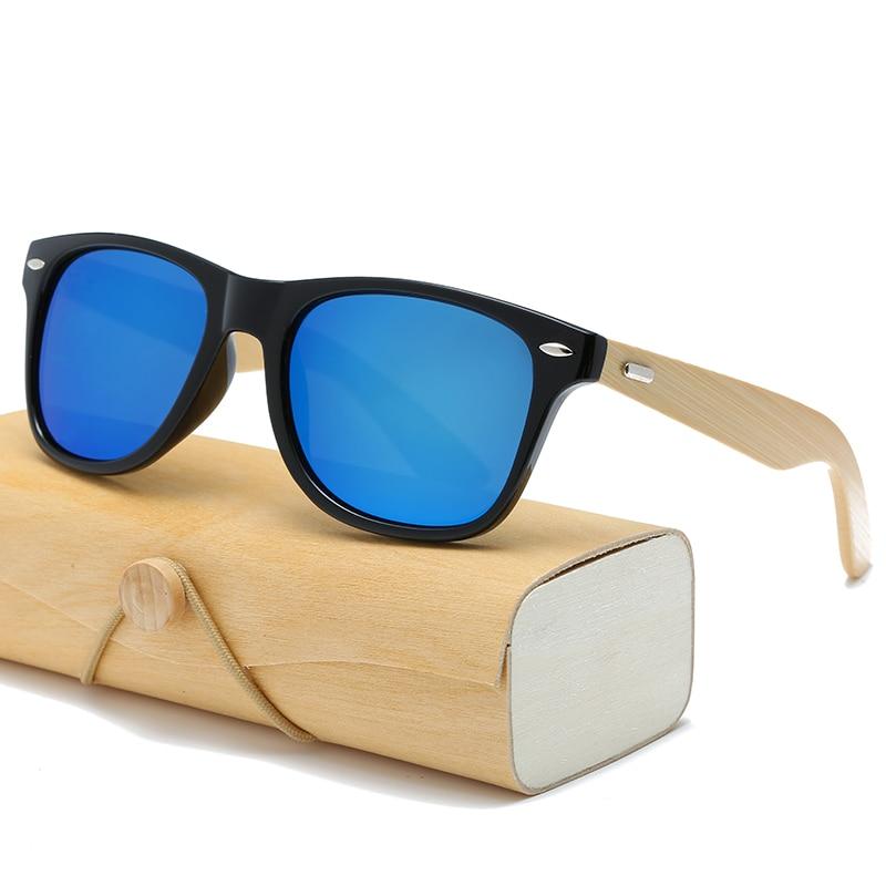 17 color Wood Sunglasses Men women square bamboo Women for women men Mirror Sun Glasses retro de sol