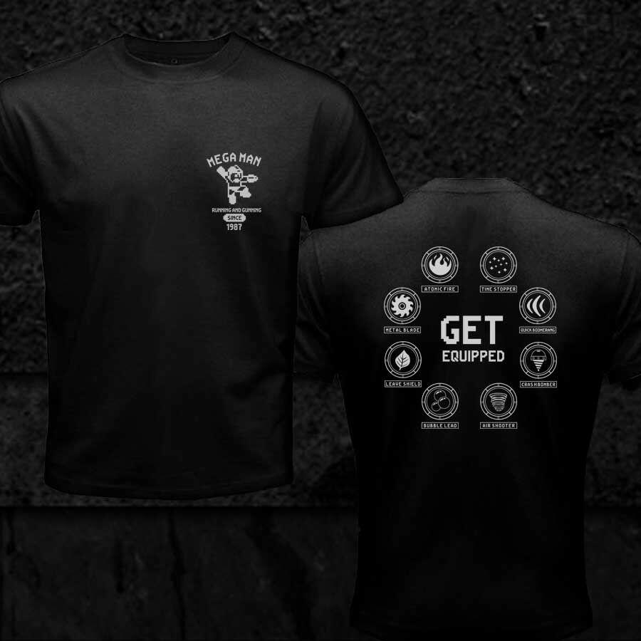 2020 Mega camisa de hombre todo el equipo de armas Retro pixelado juego hombres camiseta