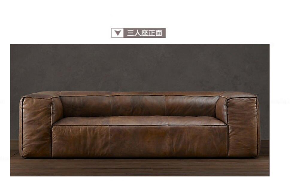 Juego de sofás de cuero auténtico para sala de estar, conjunto de...