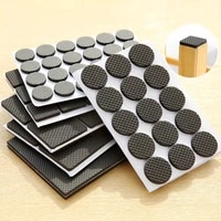 30pcsset black self adhesive anti skid scratch diy resistant furniture floor protector pads table legs stools chairs mats