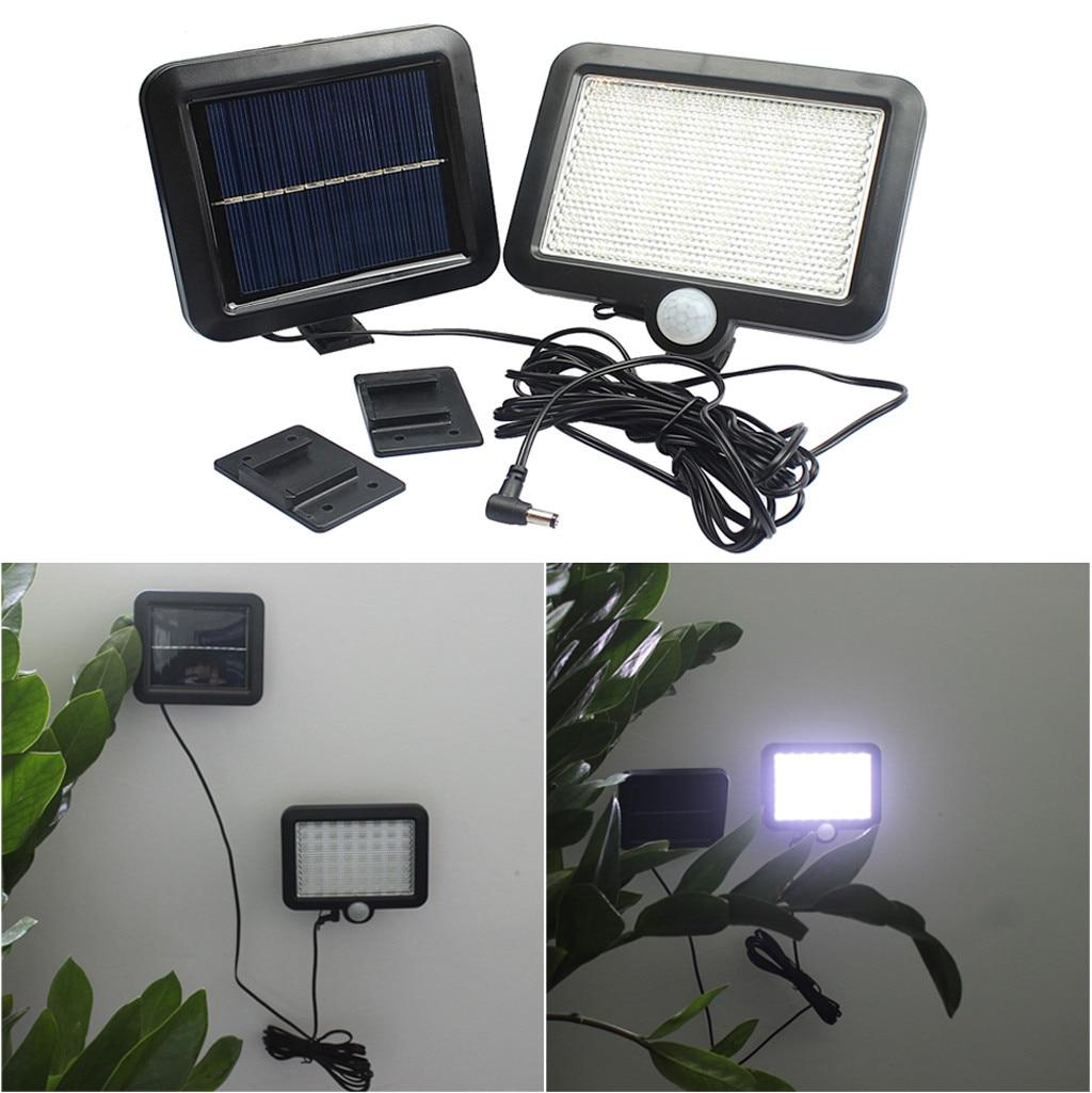 1pcs lâmpada De Parede Sensor De Movimento De Energia Solar Luz De Inundação De Segurança Lâmpada de Jardim Ao Ar Livre Caminho 56 LED светильник