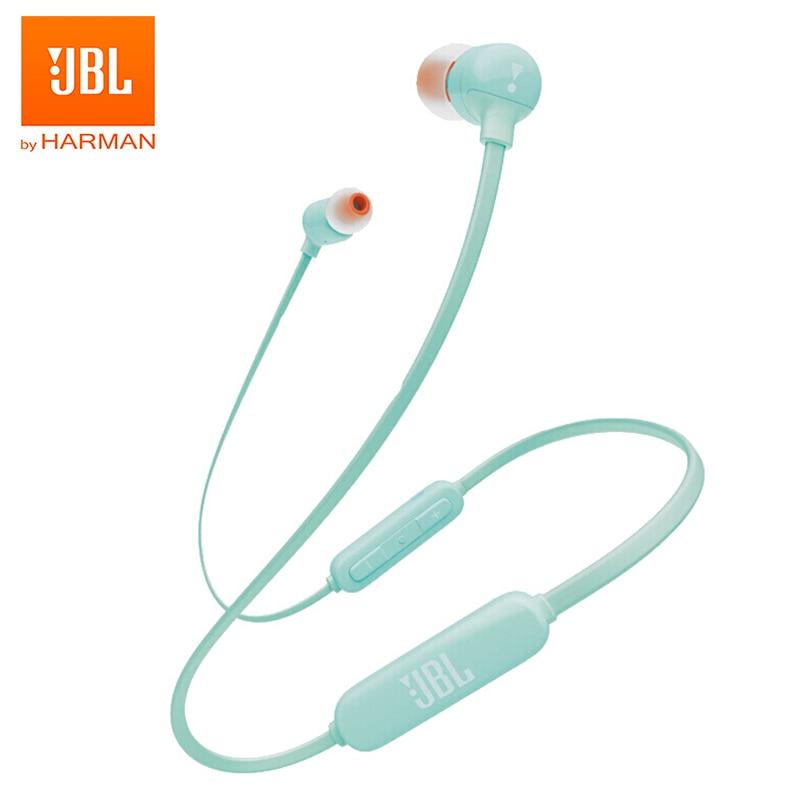 JBL-سماعة بلوتوث لاسلكية T110BT ، سماعة رأس مغناطيسية للرياضة ، الجري ، الجهير ، الموسيقى ، الهاتف الذكي